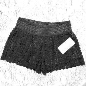 NWT REWIND Crochet Shorts.